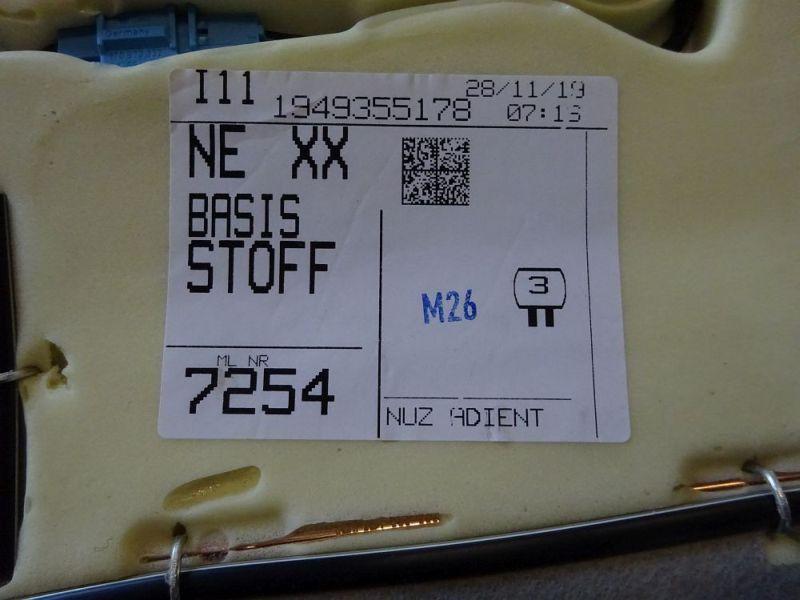 Sitzgarnitur komplett Stoff geteilt Sitzheizung vorn und hintenVW ID3