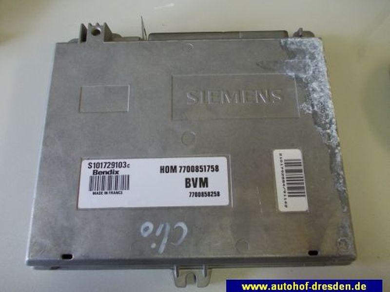 Steuergerät Motor HOM7700581758RENAULT CLIO I (B/C57_, 5/357_) 1.2  (B/C57R)